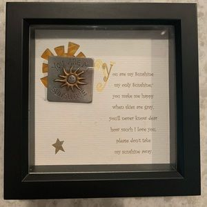 Other - You are my Sunshine shadow box frame